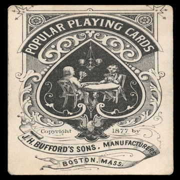 J. H. Bufford Sons / Popular Playing Cards 1877