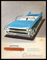 Cadillac Layout Sketch, 1950s