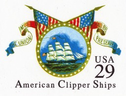American Clipper Ships Postal Card
