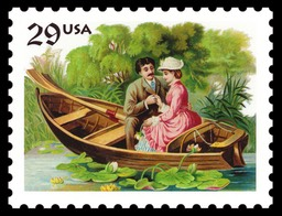 Love / Courting Couple In a Boat