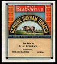 Blackwell's Genuine Durham Tobacco