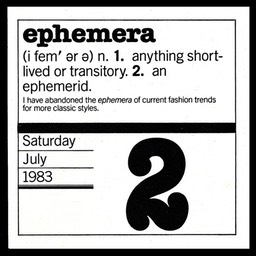 "Word For The Day: ""ephemera"""