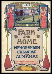 Phelps Publishing Company / Farm and Home calendar and almanac