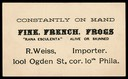 R. Weiss / Fine French Frogs