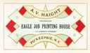 A. V. Haight / Eagle Printing House