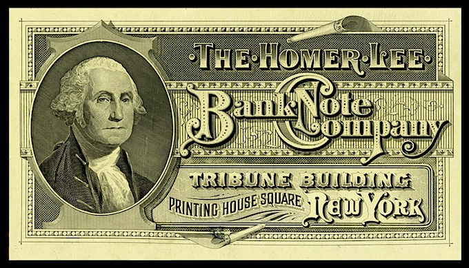 Homer Lee Bank Note Company