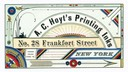 A. C. Hoyt's Printing Inks