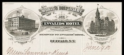 R. V. Pierce, MD / World's Dispensary and Invalid's Hotel