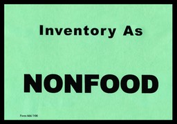 Inventory As Nonfood