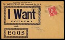 "M. Weinfeld / ""I Want Poultry and Eggs"