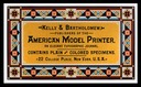 Kelly & Bartholomew / American Model Printer
