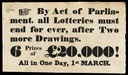 Last English Lotteries, 1826