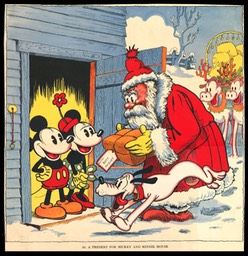 A Present for Mickey and Minnie Mouse / Santa & Reindeer