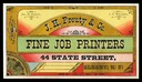 J. H. Prouty & CompanyTrade card