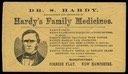 Dr. S(amuel) Hardy / Hardy's Family Medicines