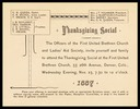 First United Brethren Church and Ladies' Aid Society
