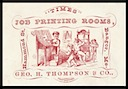 George H. Thompson & Company / Times Job Printing Rooms