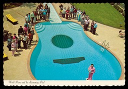 Webb Pierce and his Guitar-Shaped Swimming Pool